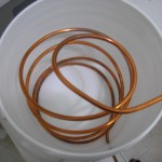 Coil of copper in bucket