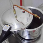Fermented mixture in pressure cooker
